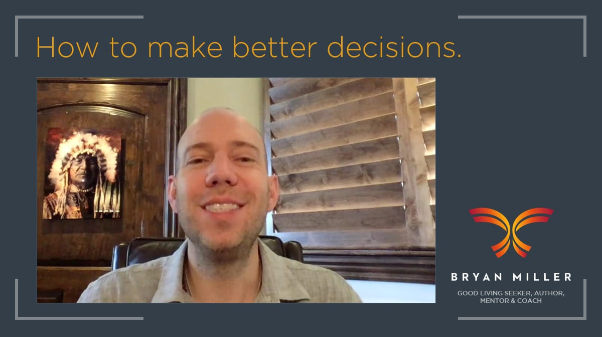 Bryan Miller speaking on better decision making