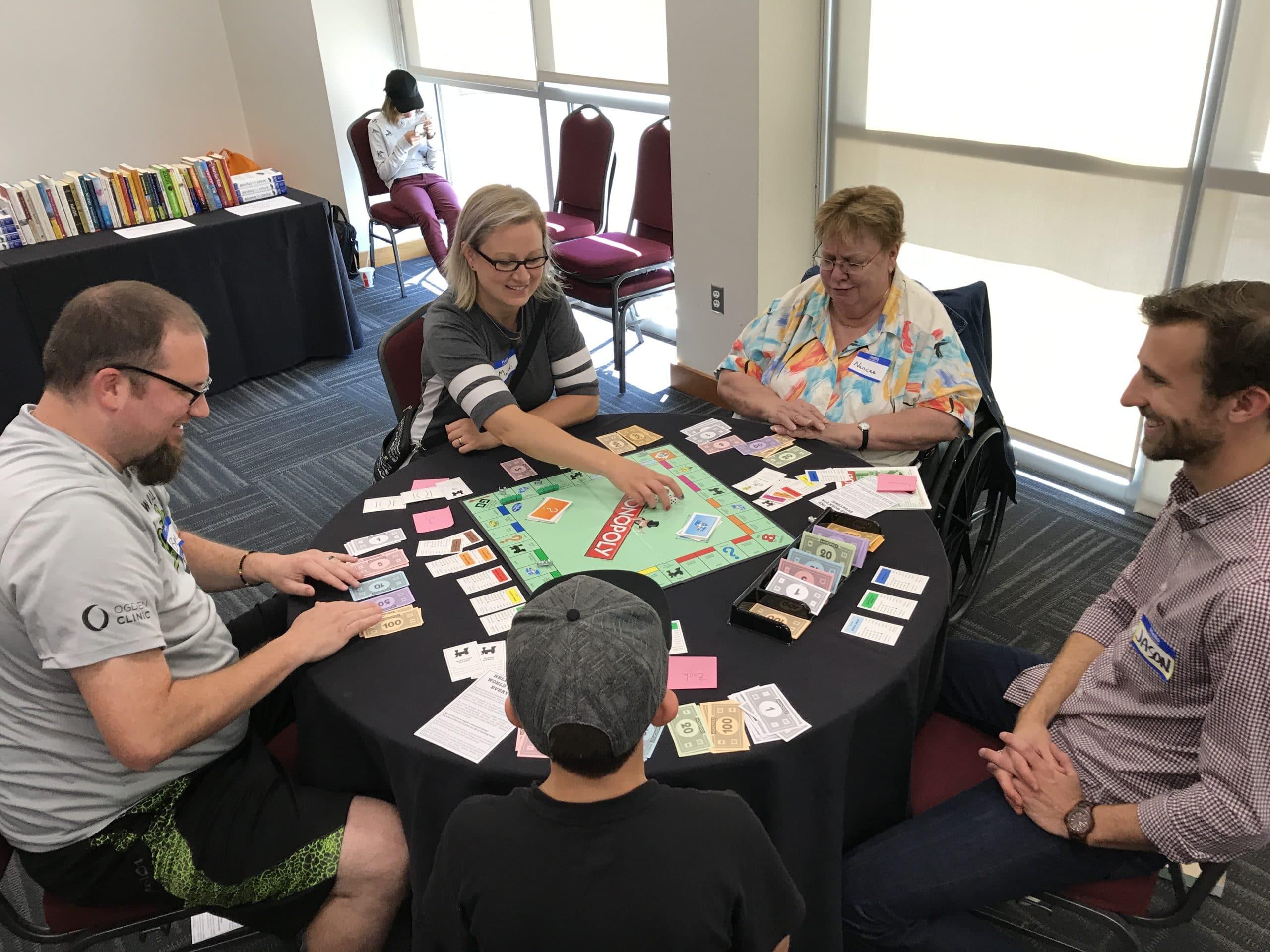 Nancee Playing Monopoly